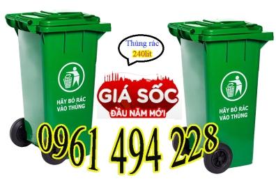 thùng rác 240l, thùng rác nhựa hdpe,thùng đựng rác giá tốt